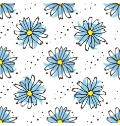 Chamomile tea seamless pattern Organic herbal hot vector image vector image