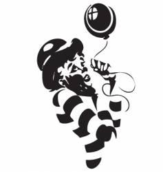 clown illustration vector image