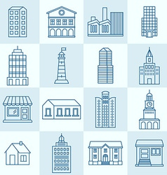 collection of linear icons vector image vector image