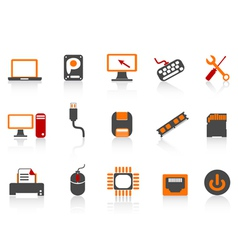 computer equipment icon color series vector image vector image