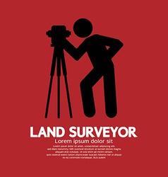 Land Surveyor Black Graphic Symbol vector image