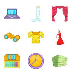 main speech icons set cartoon style vector image