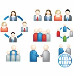 network teamwork research vector image vector image
