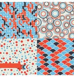 Seamless set of retro pattern Stylish background vector image vector image