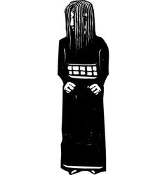Shy girl vector image vector image
