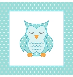 Sleeping owl Applique Patchwork Pattern vector image vector image