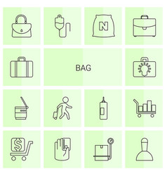 14 bag icons vector