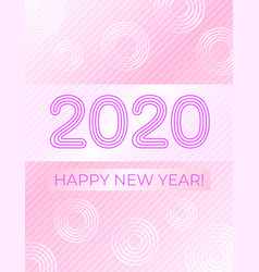 2020 happy new year cheerful gentle abstract vector