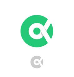 Alpha logo grecian letter circle vector