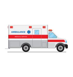 ambulance car medical service vector image