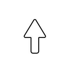 arrow up line icon isolated black on white vector image
