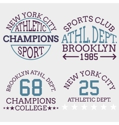 Athletic nyc logo typography t-shirt graphics vector