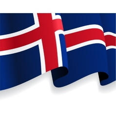 Background with waving Icelandic Flag vector