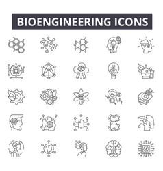 bioengineering line icons for web and mobile vector image