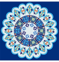 Blue ottoman serial patterns seven vector