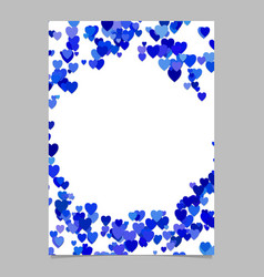 blue random heart page background design - love vector image