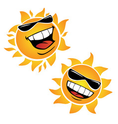 Bright smiling happy sun cartoon vector