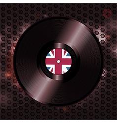 British vinyl record on metallic honeycomb vector
