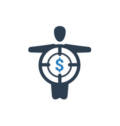 Business target icon vector
