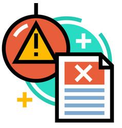 Business threats linecolor vector