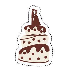Cake wedding icon vector