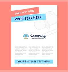cloud downloading title page design for company vector image