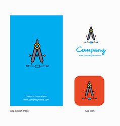 compass company logo app icon and splash page vector image
