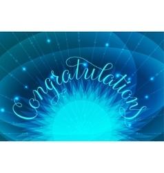 Congratulations lettering hand vector