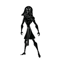 Contour on a white background of the egyptian god vector