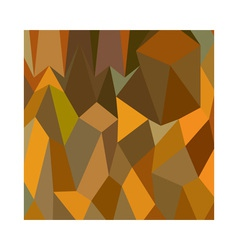 Copper Brown Abstract Low Polygon Background vector
