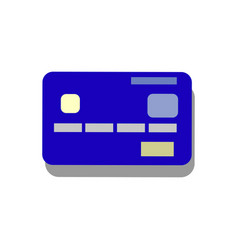 Credit card blue icon vector