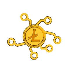 Drawing litecoin web icon vector