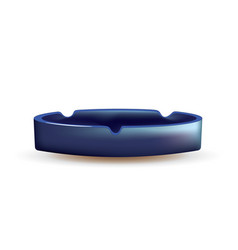 empty blue ashtray vector image