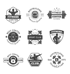 Fitness Gym Emblems Set vector