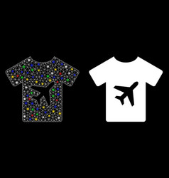 Flare mesh 2d man t-shirt icon with light spots vector