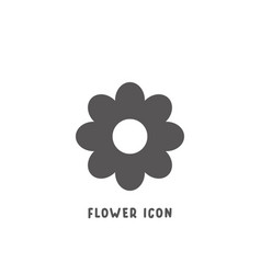 flower icon simple flat style vector image