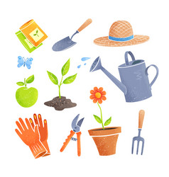 gardening items vector image
