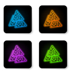 glowing neon nachos icon isolated on white vector image