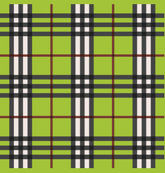 green modern plaid pattern with red lines pattern vector image