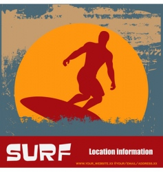 Grunge surfer background vector