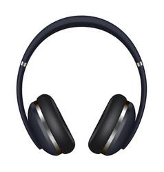 headphones icon realistic style vector image