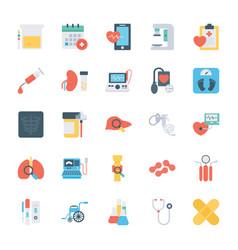 Health checkup flat icons vector