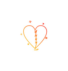 heart brocken icon design vector image