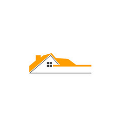 home realty roof company logo vector image