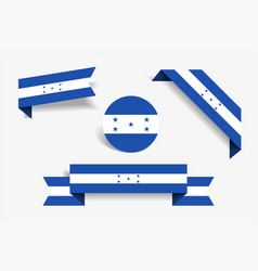 honduras flag stickers and labels vector image