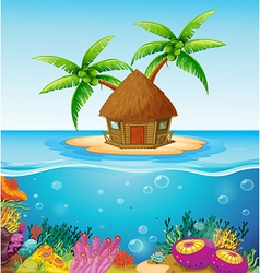 Hut on Island vector image