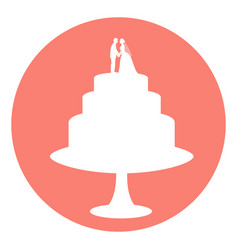 icon wedding cake vector image