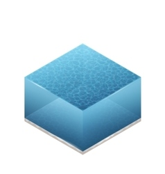 Isometric Of Water vector