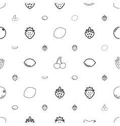juicy icons pattern seamless white background vector image