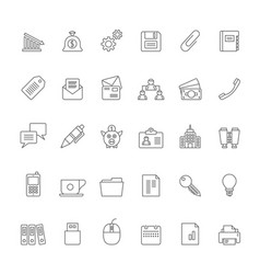 line business office and finance icons 2 vector image
